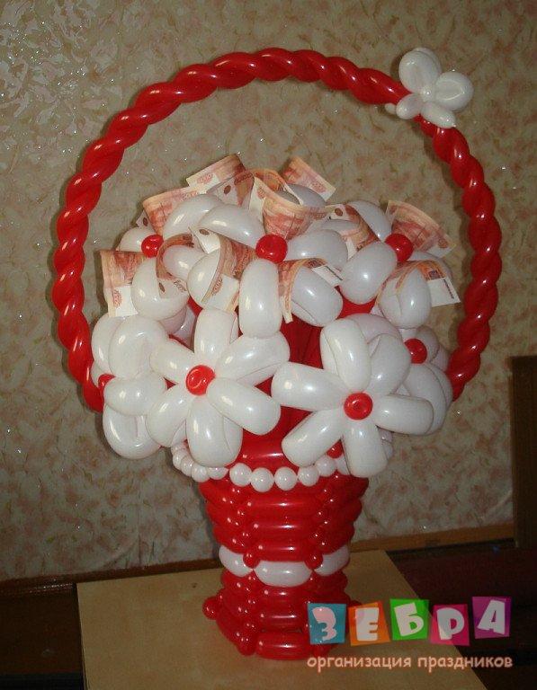 Оригинальные подарки из воздушных шаров фото 52