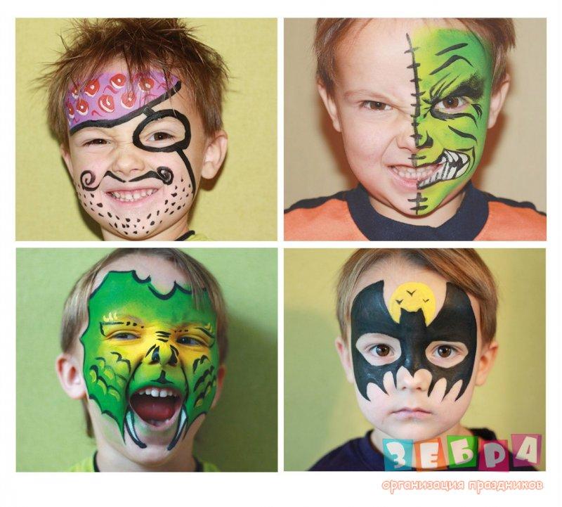 Как сделать рисунки на детском лице