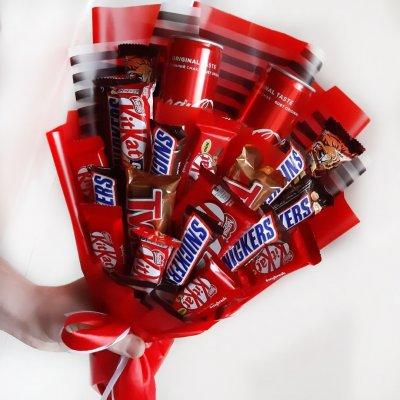 Букет из шоколадок 7