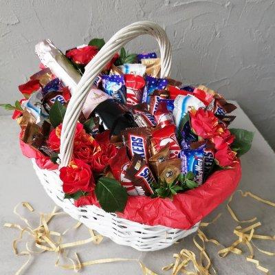 Букет из шоколадок 15